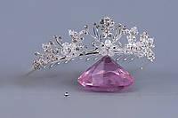 Свадебная мини_диадема-гребень (34) со стеклярусом