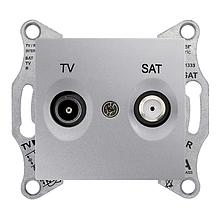 Розетка TV/SAT крайова Алюміній Sedna SDN3401660