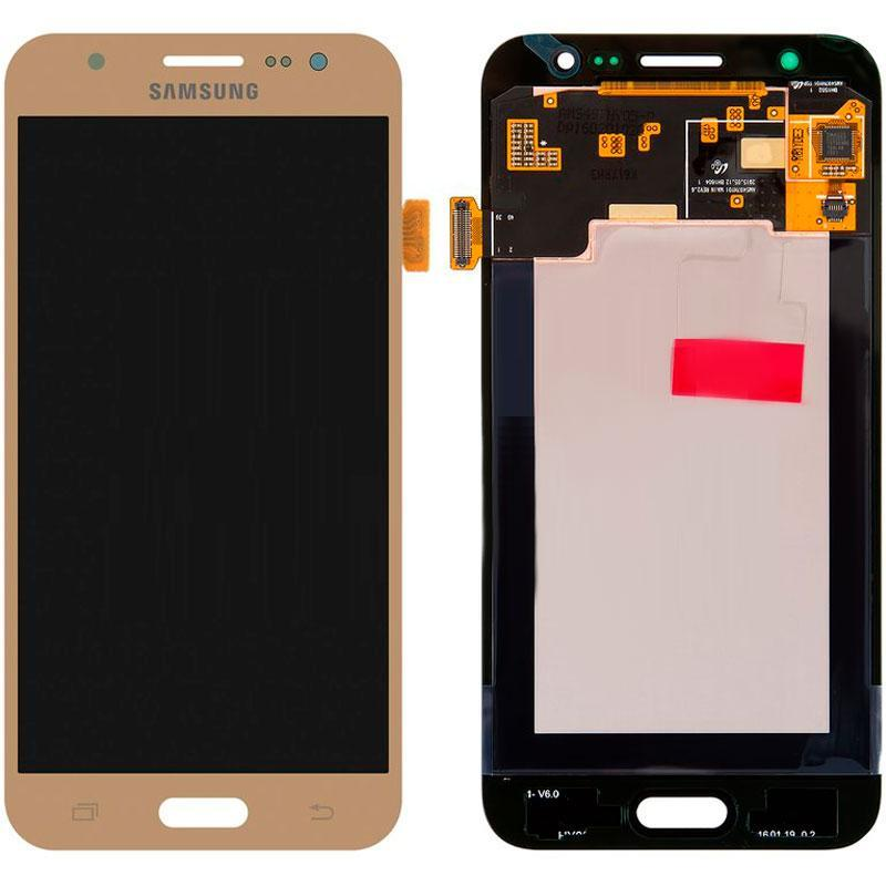 Дисплей і сенсор (модуль) на Samsung J500H, J5 золотий (100% Service OR)