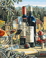 Картина по номерам 40x50 Винный натюрморт, Rainbow Art (GX3955)