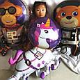 Фольгований великий куля космічна тема космонавт ведмідь 90*66 див., фото 3
