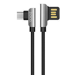 Дата кабель Hoco U42 Exquisite Steel Micro USB Cable (1.2m) угловой