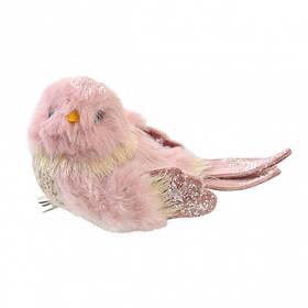 Птичка Yes! Fun пушистая розовая, 13*7 см