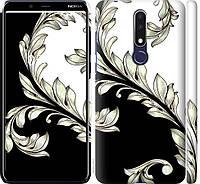 "Силиконовый чехол на Nokia 3.1 Plus White and black 1 ""2805c-1607-26838"""