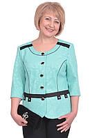 Нарядный женский пиджак с рукавом 3/4 большого размера