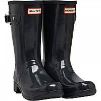 Ботинки Hunter Original Tour Short Gloss Wellington Dark Slate Dark Grey - Оригинал, фото 1