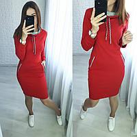 Теплое платье в спортивном стиле