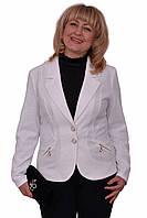 Классический нарядный женский пиджак на пуговицах большого размера