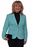 Замечательный женский пиджак  на пуговицах больших размеров