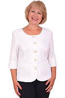 Нарядный женский классический пиджак в белом цвете