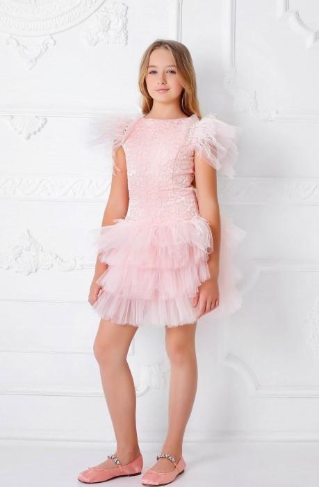 Гламурное платье для девочки  ТМ МОНЕ р-ры 146