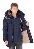 Зимняя куртка для мальчиков подростков, размеры 38 - 44 ( рост 140 - 165 см) - S 9983