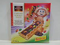Печенье с карамельно-шоколадной начинкой Feiny Biscuits caramel schoko-snack 162 г