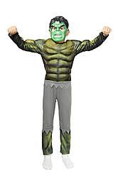 "Костюм супер героя ""Халк"" с мускулами детский костюм на карнавал маскарад костюм героя Марвел"