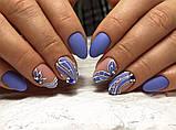 Гель-лак Oxxi (8 мл) №052 (светлый сине-фиолетовый, эмаль), фото 3