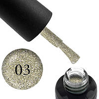 Гель-лак Oxxi (8 мл) Star gel №3 (серебристый с легким зеленоватым отливом)