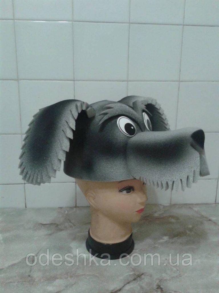 Шапка-маска з поролону Собака