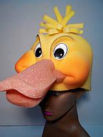 Шапка-маска из поролона Утка