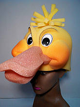 Шапка-маска з поролону Качка