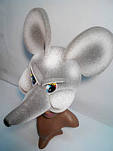 Шапка-маска з поролону Щур