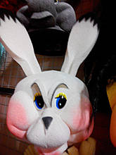 Шапка-маска з поролону Заєць