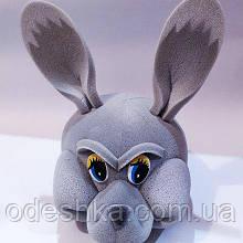 Шапка-маска з поролону Заєць сірий
