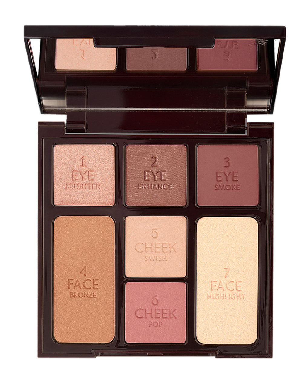 Палетка для лица и век Charlotte Tilbury Instant look in a palette gorgeous glowing beauty