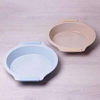 Форма для запекания с антипригарным мраморным покрытием и силиконовыми ручками 37346см Kamille a6029