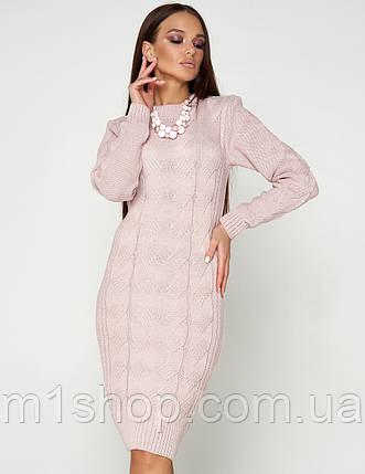 Женское теплое вязаное платье-футляр (Кемер 07jd), фото 2