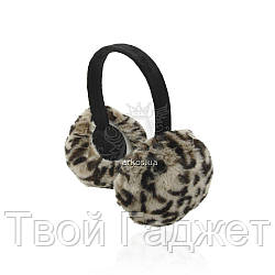 Наушники теплые, тигровые, искусственный мех, упаковка 4шт