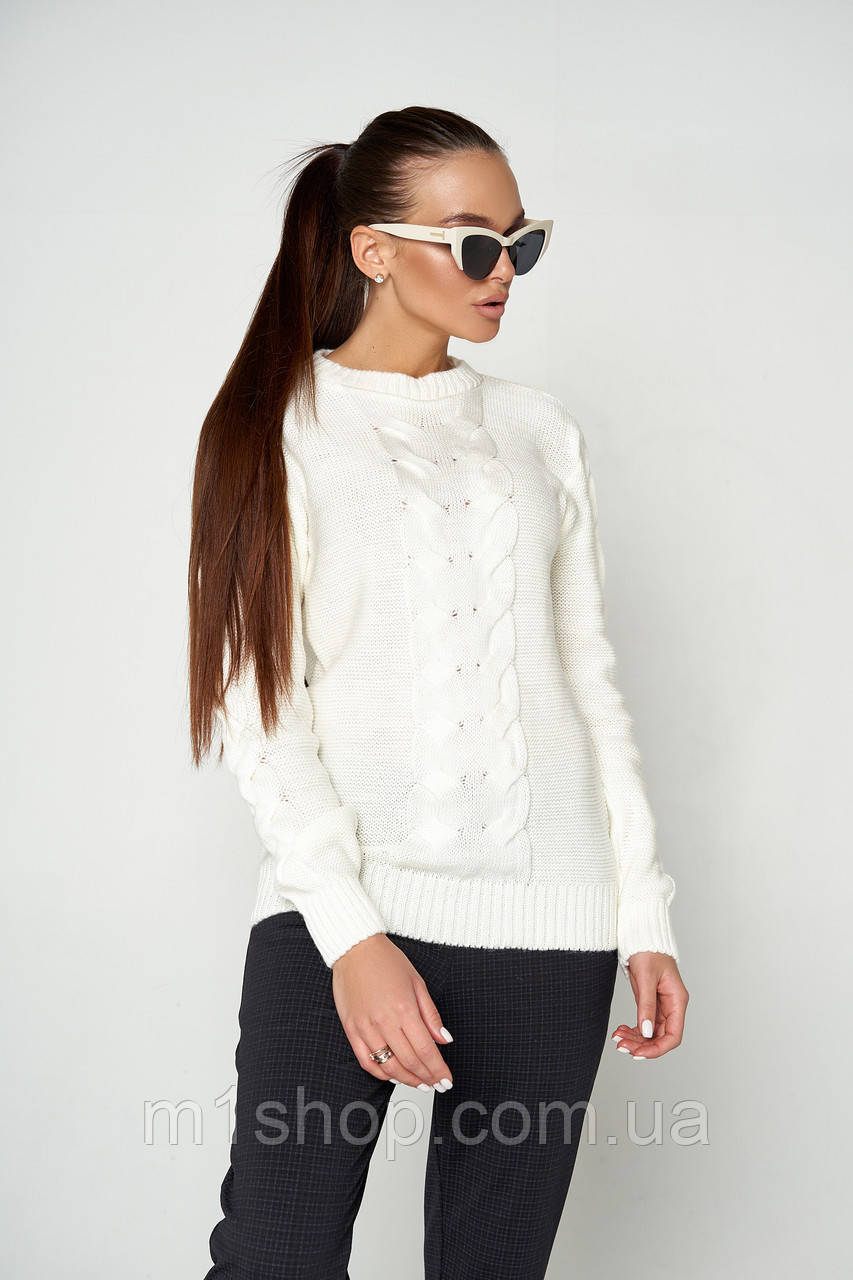 Женский теплый вязаный свитер (Лайм 06 jd)