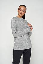 Женский теплый вязаный свитер (Лайм 06 jd), фото 3