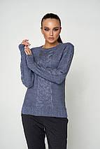 Женский теплый вязаный свитер (Лайм 06 jd), фото 2