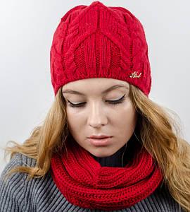 "Комплект ""Джемми"", шапка+бафф, (Красный)"
