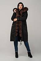 Пальто женское  Парка  на меху - Пихора