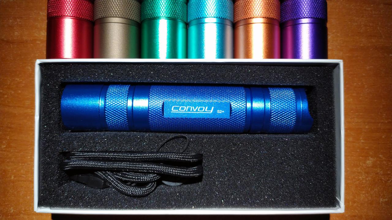 Convoy S2+, CREE XP-L HI V2-1A, 7135х8 (2800mA) Biscotti  драйвер, фонарь светодиодный, корпус синий