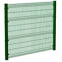 Забор Металлический Секция ограждения Эконом Полимер (оцинкованная) 1,23м х 2,5м