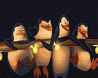 Рисование по номерам Пингвины Мадагаскара (BK-GX22148) 40 х 50 см Brushme [Без коробки]