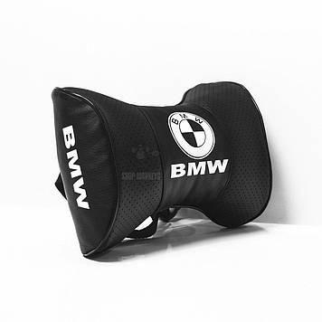 Подушки на подголовник с логотипом автомобиля bmw (чёрный цвет)