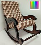 """Крісло-гойдалка """"Шерлок"""". Колір каркасу та тканини можна змінювати., фото 2"""