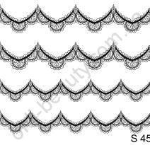 Слайдер-дизайн S 45 (водные наклейки) черный