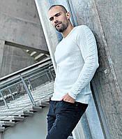 Кофта мужская, стиль типажный, белая (Италия)