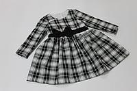 Повседневно - нарядное платье на девочку в клеточку № 61
