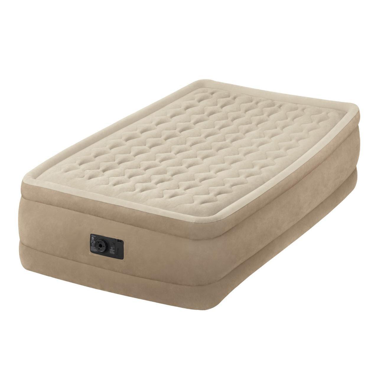 Надувная кровать Intex Twin Ultra Plush 64456 насос 220в, 99x191x46 см