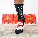 Новорічні жіночі шкарпетки на подарунок комплект 4 пари, фото 3