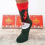 Новорічні жіночі шкарпетки на подарунок комплект 4 пари, фото 4