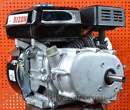 Двигатель бензиновый с понижающим редуктором и сцеплением BIZON 170F 7.5 л.с. вал 20 мм под шпонку