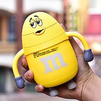 Термос детский с трубочкой MMs (Желтый)