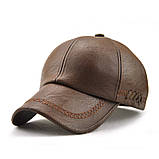 JAMONT кепка мужская зимняя кожа, фото 7