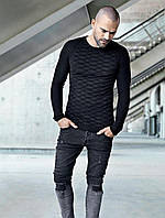 Кофта мужская, стиль типажный, черная (Италия)